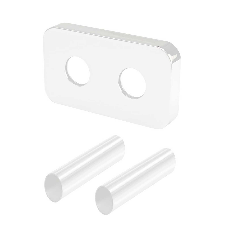 Kit copritubo per radiatori e termoarredo con interasse 50 mm colore bianco Poletti