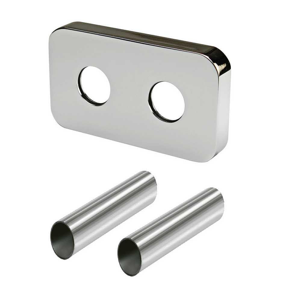 Kit copritubo per radiatori e termoarredo con interasse 50 mm cromato Poletti