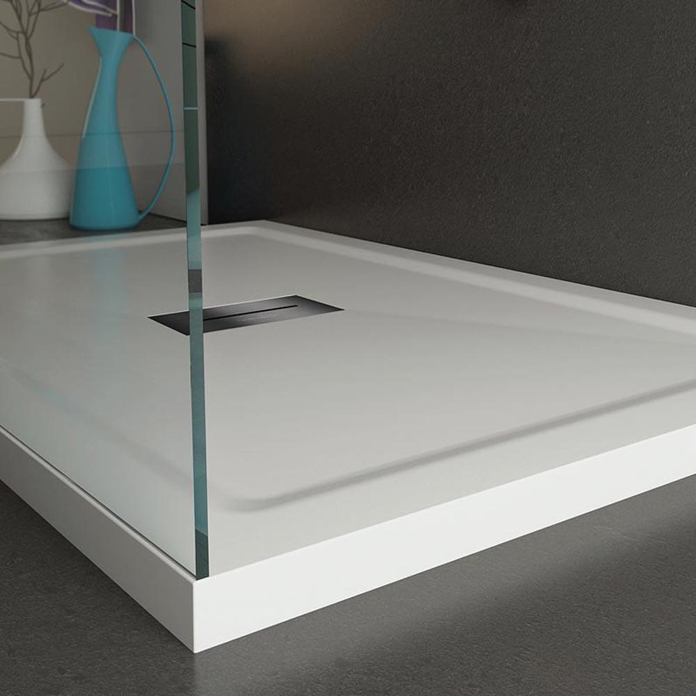 Piatto Doccia in acrilico 70X100 cm H4 con bordi squadrati Relax Design Puro