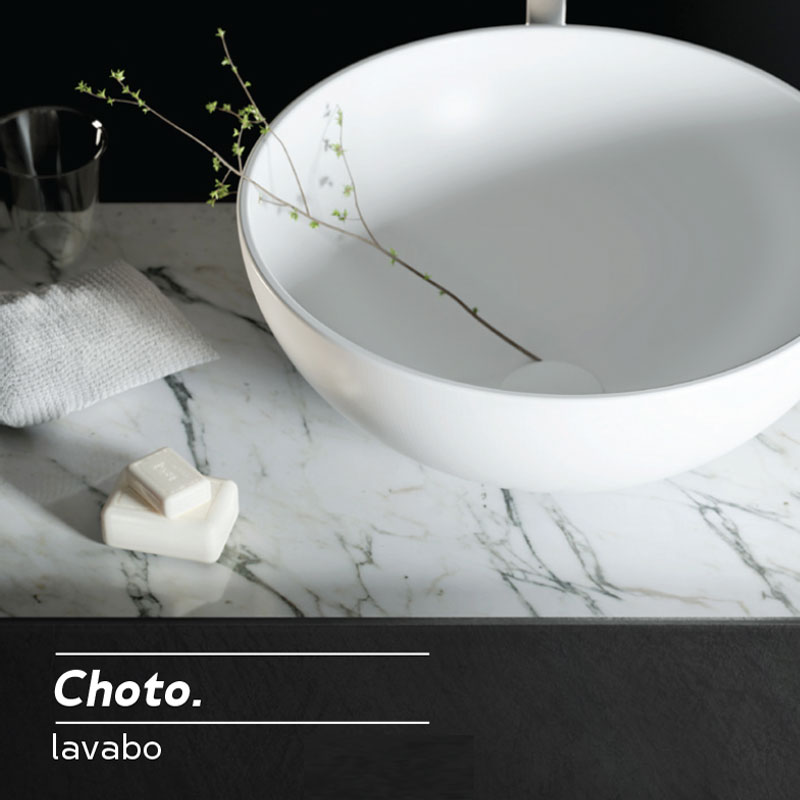 Lavabo da Appoggio in Solid Surface modello Choto Relax Design