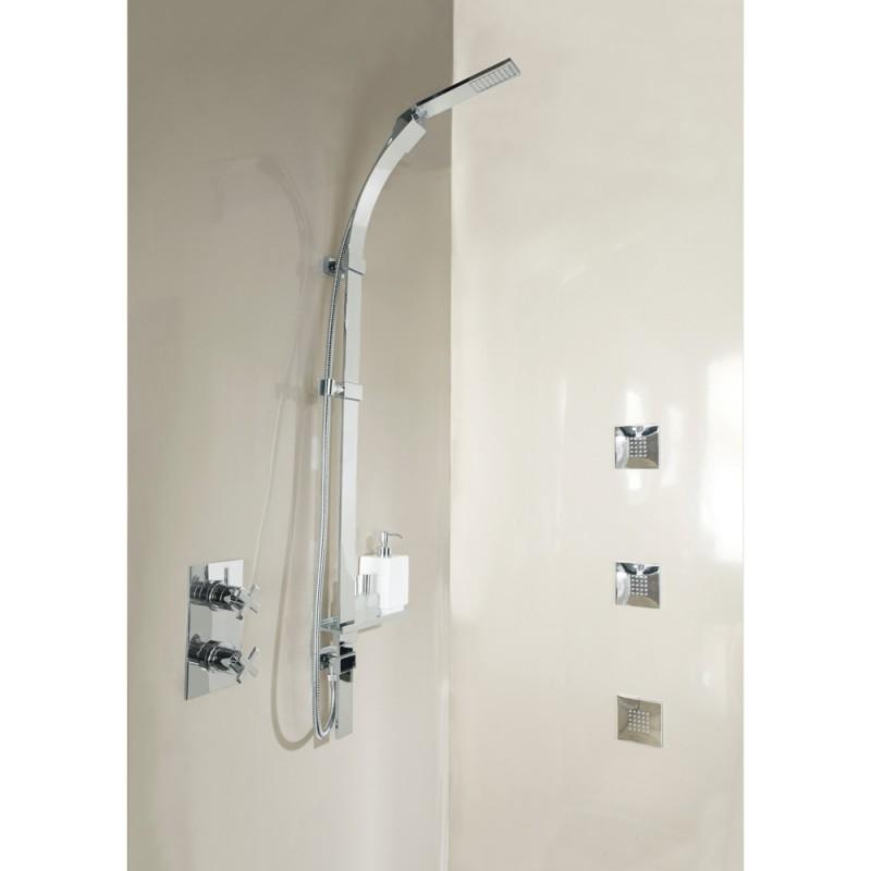 Bossini Set doccia saliscendi regolabile con doccetta Monogetto Flat One D47053