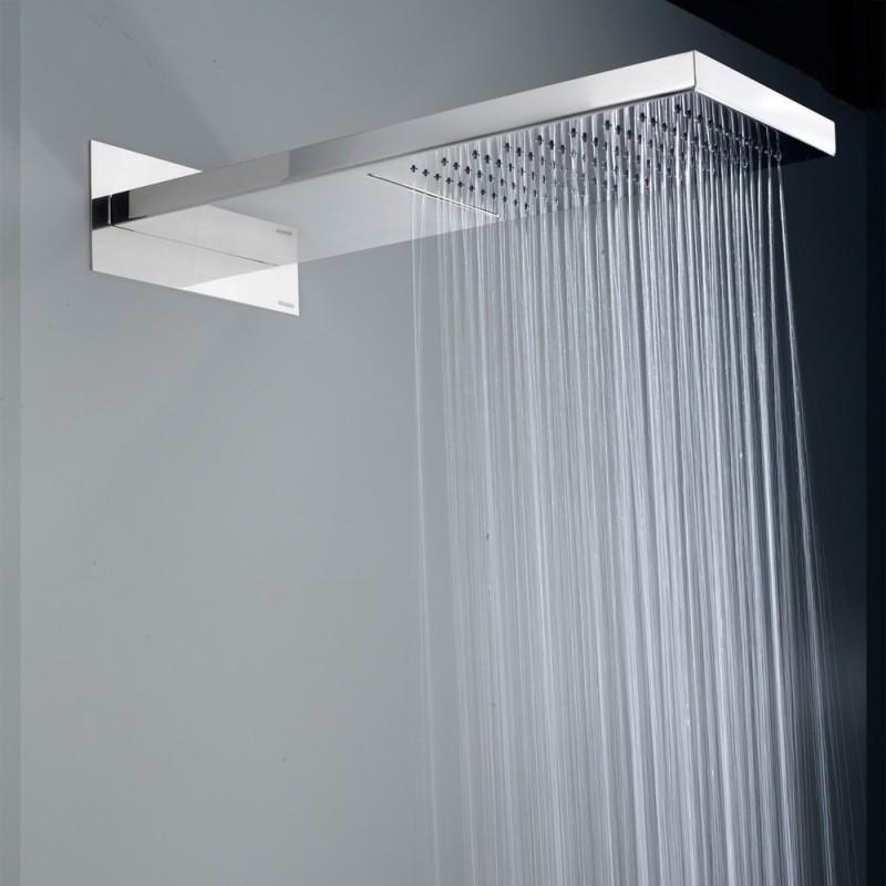 Soffione doccia Bossini Manhattan in acciaio inox con pioggia e cascata