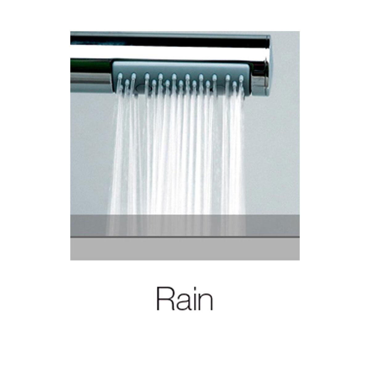 Composizione doccia soffione tondo Ares diametro 20 cm e kit duplex Bossini