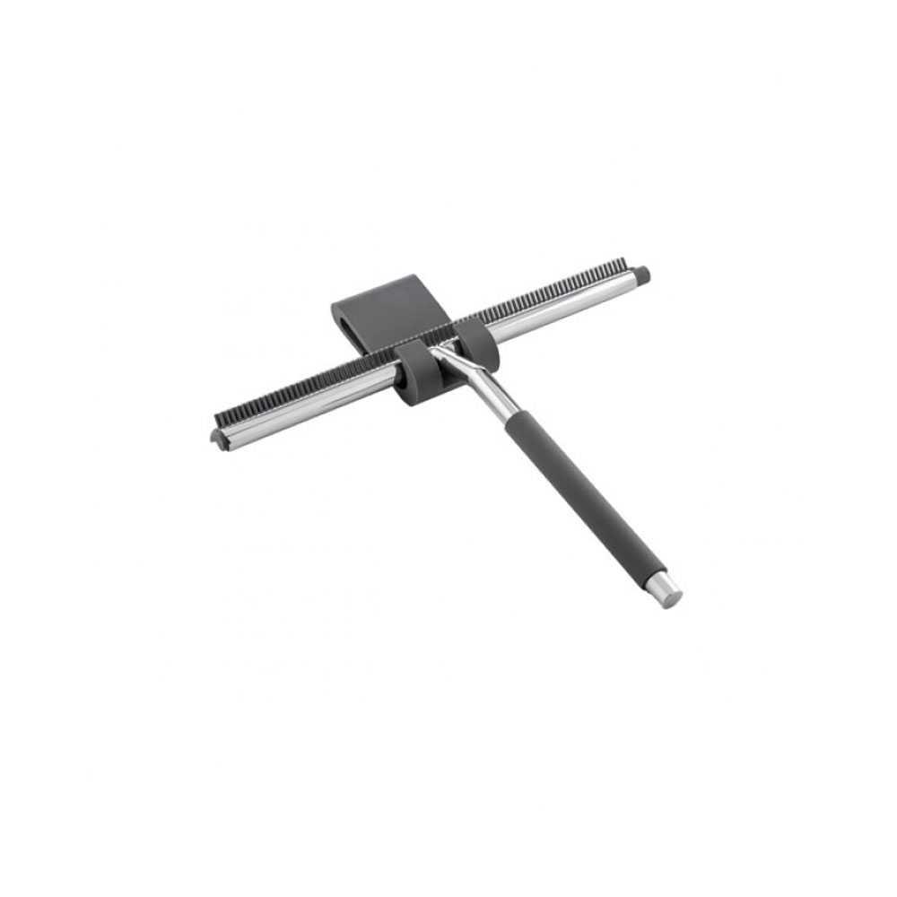 Tergivetro e tergi piatto doccia in acciaio 'Blade Tecno' by Cipi - 27 x 19 cm con doppia funzione