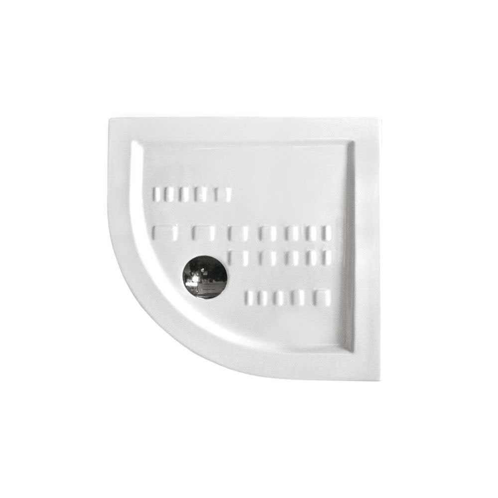 Piatto doccia angolare Althea Ito  cm 80x80 ceramica bianca foro diametro cm 8,5 spessore cm 5,5