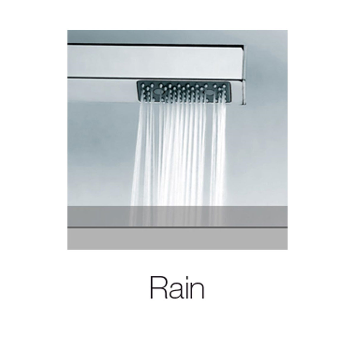 Composizione doccia squadrata Bossini Cube con soffione 20x20, braccio e kit duplex