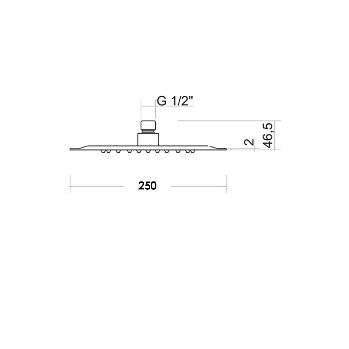 Composizione doccia squadrata con soffione 25X25 braccio e kit duplex Bossini Cube