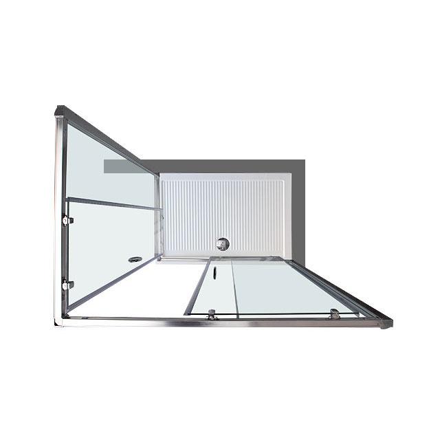 Box doccia rettangolare 80x100 in cristallo da 6 mm Opaco apertura angolare
