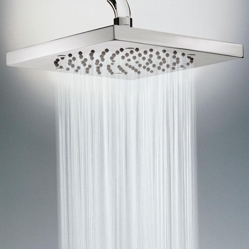 Composizione doccia Bossini con soffione quadrato 26X26, braccio doccia e kit duplex