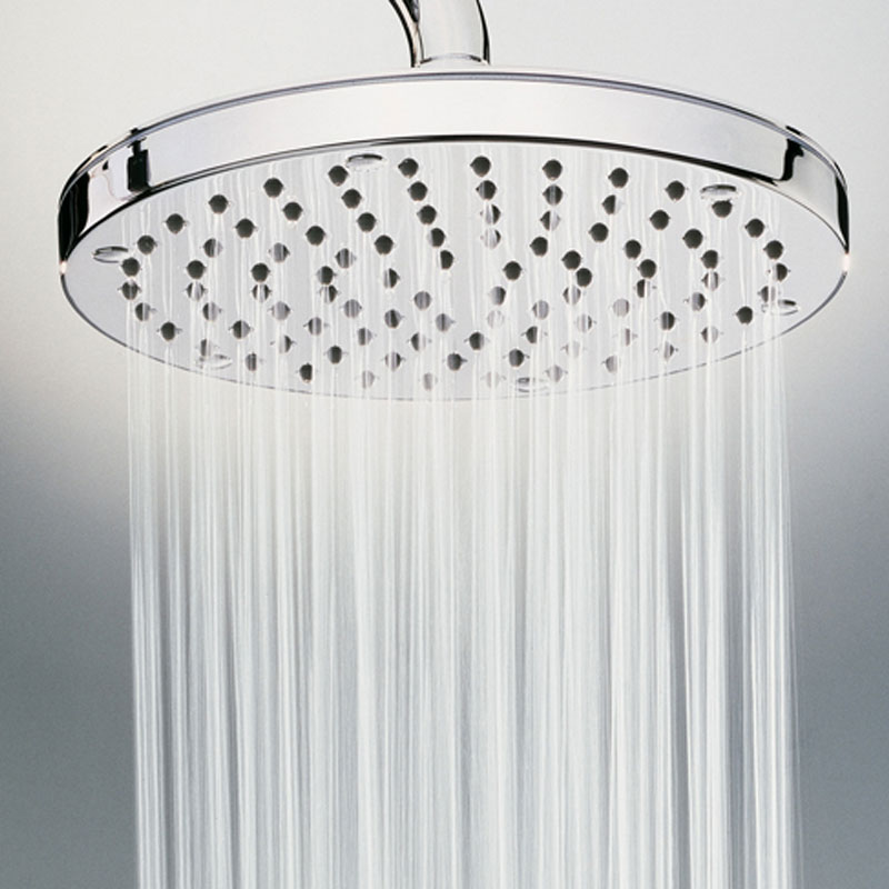 Composizione doccia Bossini con soffione tondo diametro 25 cm, braccio doccia e kit duplex