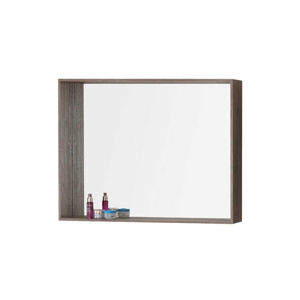Specchiera con cornice-mensola in nobilitato Upside cm 90 Colore Castagno