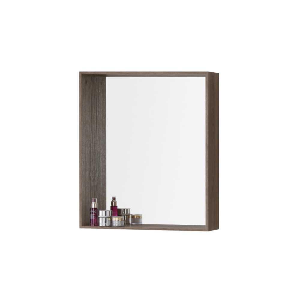 Specchiera con cornice-mensola in nobilitato Upside cm 60 Colore Castagno