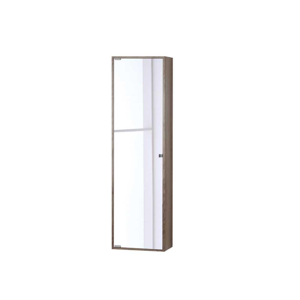Pensile con anta a specchio in nobilitato Upside cm 120h Colore Castagno
