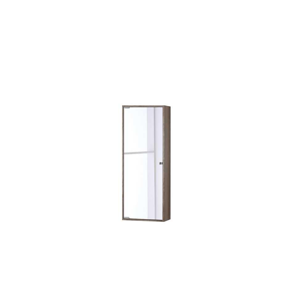 Pensile con anta a specchio in nobilitato Upside cm 90h Colore Castagno