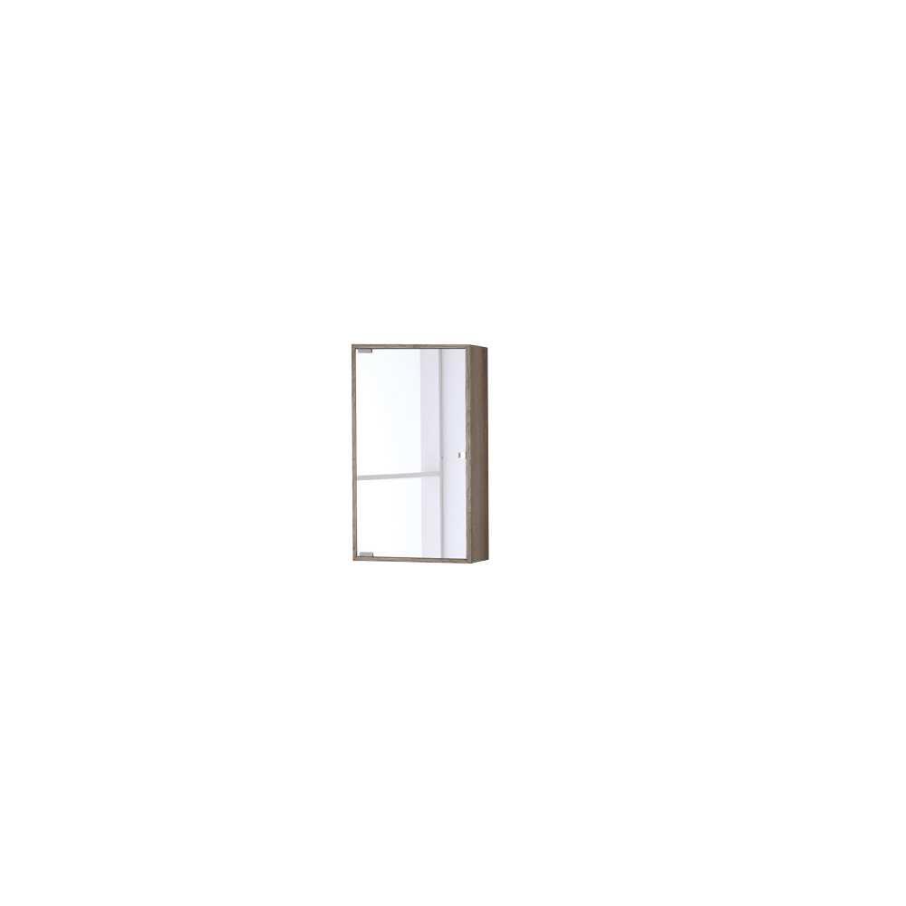 Pensile con anta a specchio in nobilitato Upside cm 60h Colore Castagno