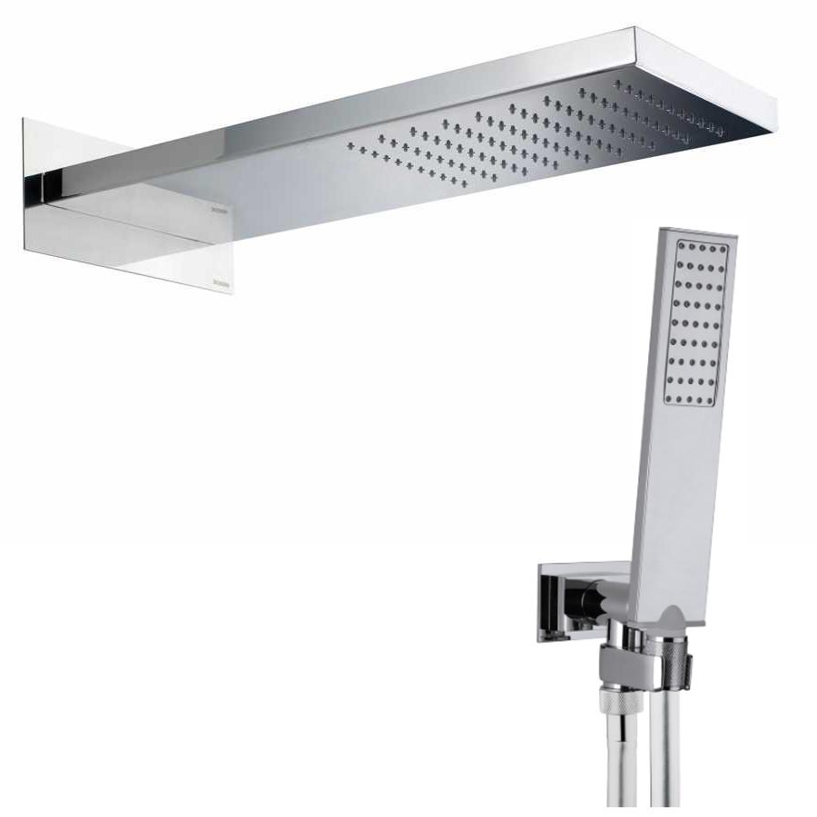 Soffione doccia in acciaio Bossini Manhattan con kit duplex Flat One