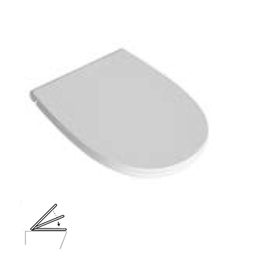 Coprivaso 4ALL termoindurente soft close bianco