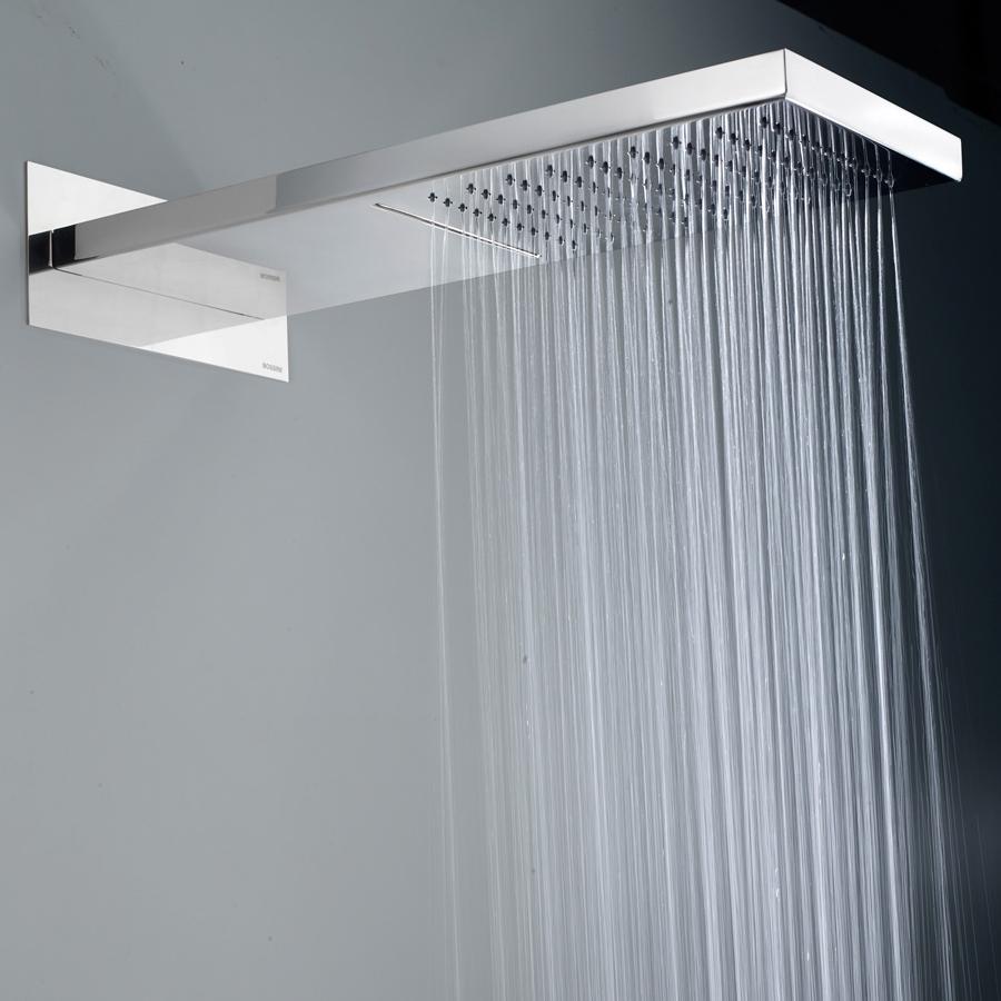 Soffione doccia cascata in acciaio Bossini Manhattan a due getti con kit duplex Flat