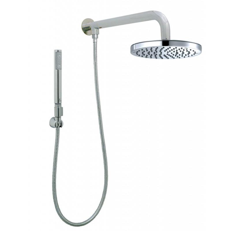 Bossini braccio doccia girevole tondo con soffione da 20 cm con doccetta mod. Zen