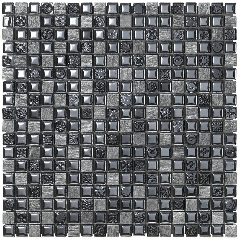 Mosaico da bagno in fogli 30x30 cm Boxer Mexical Nero