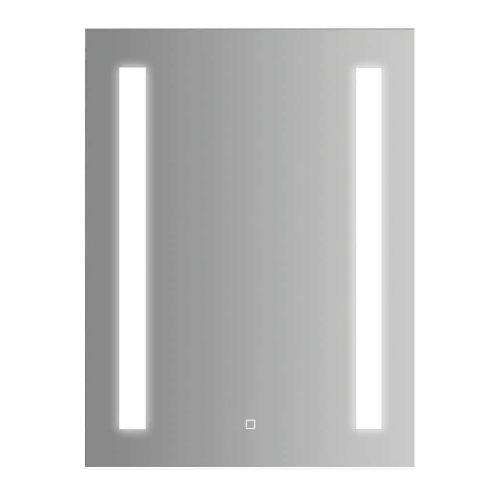 Specchio rettangolare con doppia striscia led laterale accensione touch 60x80h cm