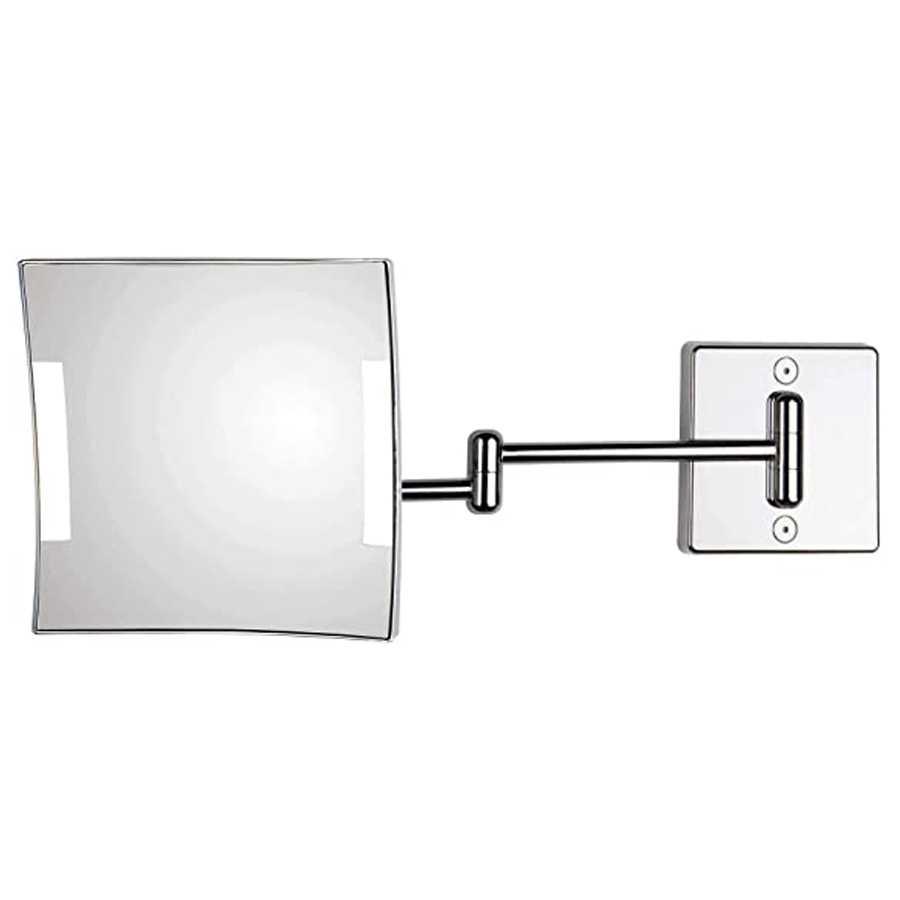 Specchio ingranditore orientabile koh-i-noor modello Quadrolo LED con braccio singolo con alimentazione esterna con spina