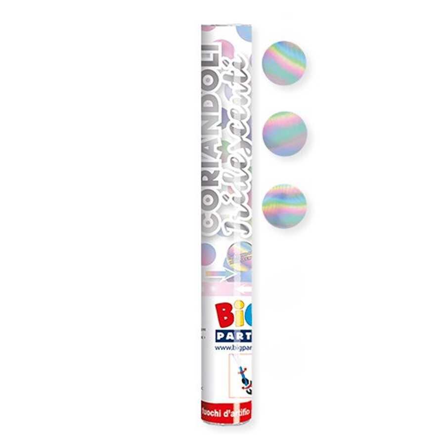 Tubo sparacoliandoli iridescenti cm 30 per party e feste