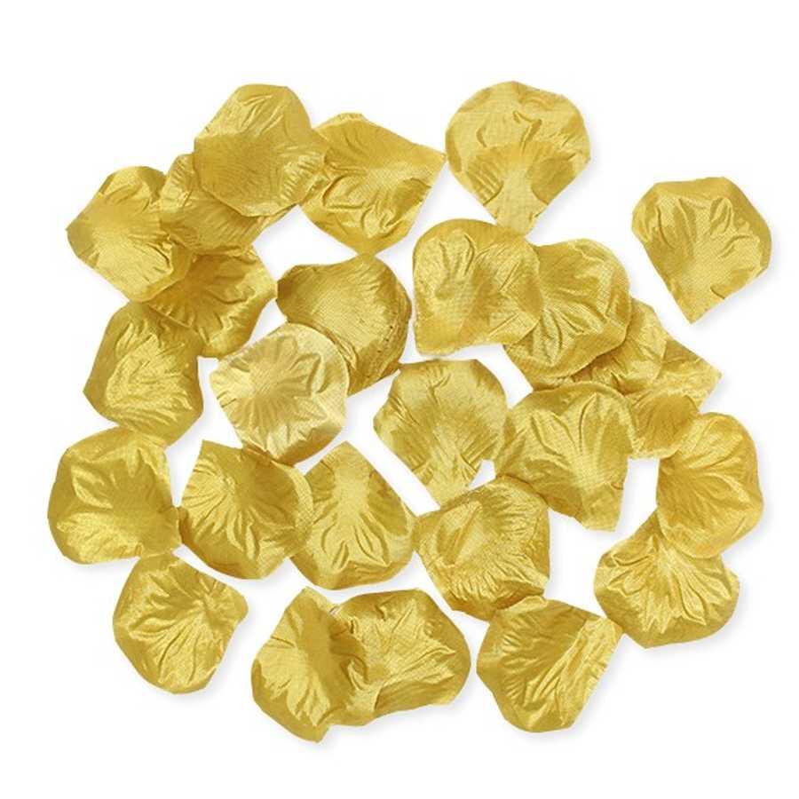 500 petali di rosa in poliestere colore Oro Metal per party e feste