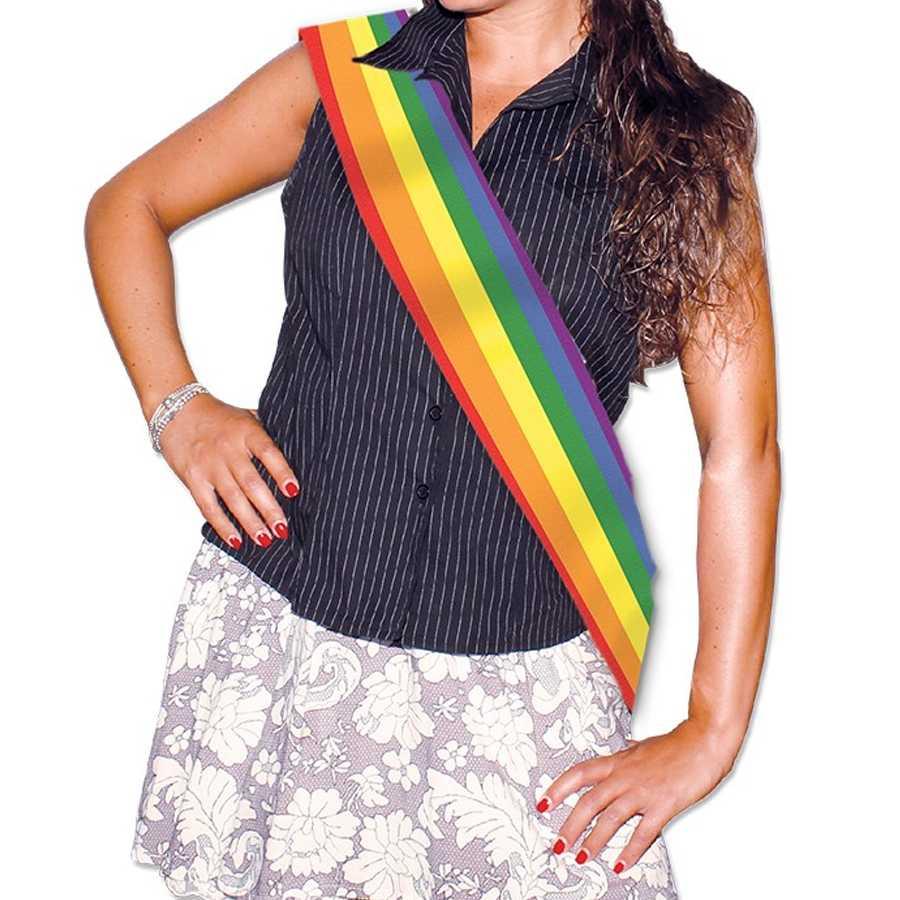 Fascia premio metallizzata Arcobaleno cm 168x10 Gadget per rainbow party