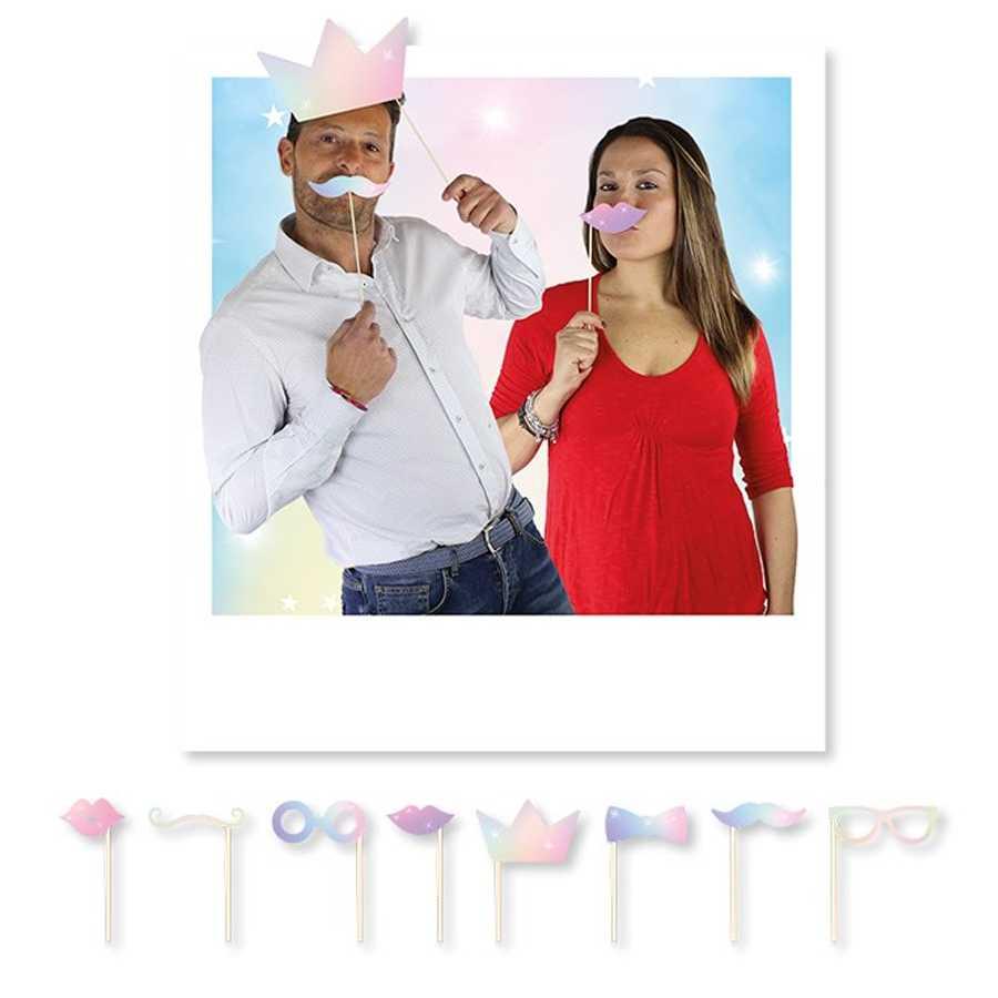 Accessori per photo booth iridescenti confezione da 8 crops per cornice fotografie