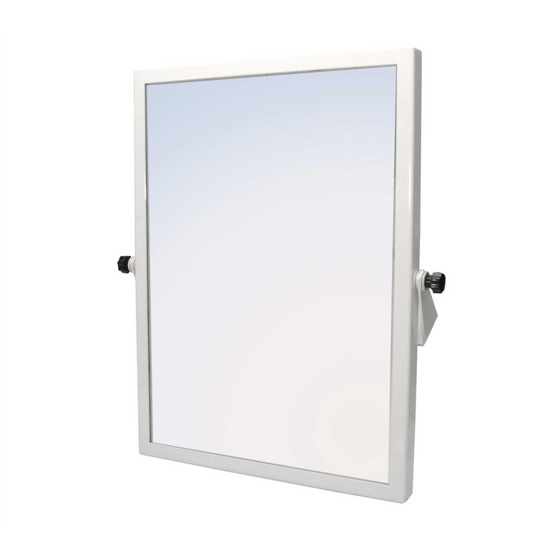 Specchio rettangolare reclinabile ideale in bagni per disabili cm 45x60h
