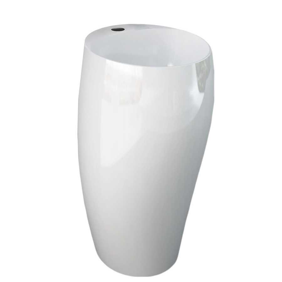 Lavabo monoblocco freestanding modello Cloud di Rak Ceramics Bianco Lucido