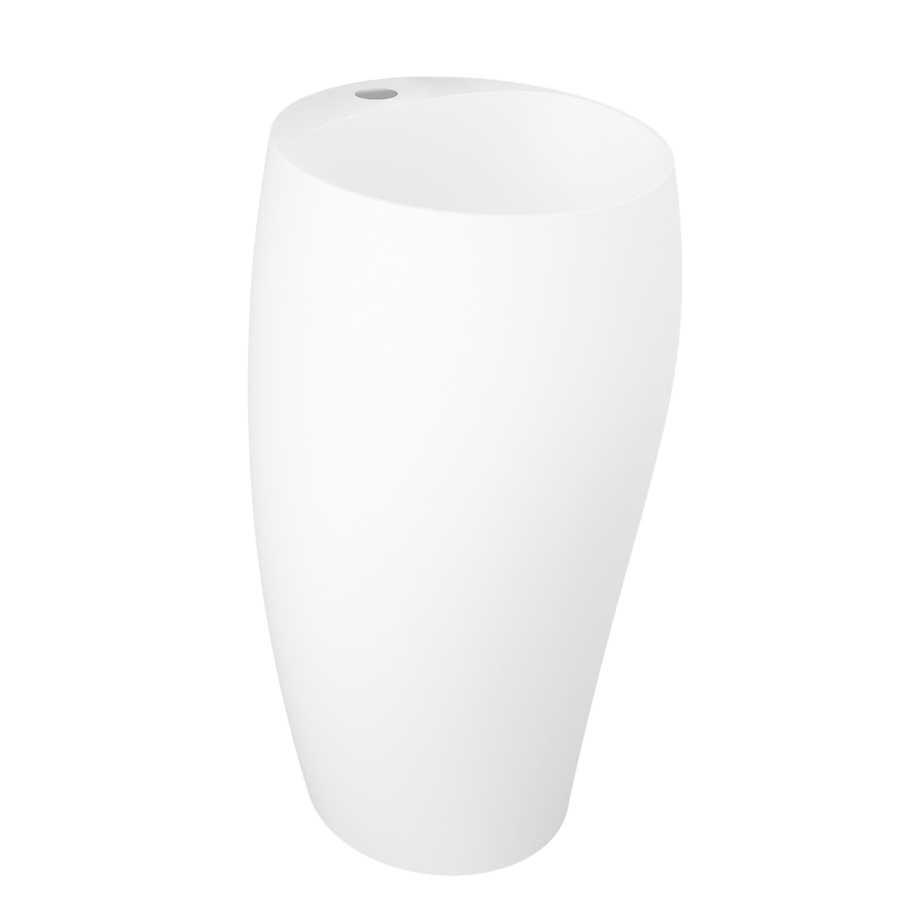 Lavabo monoblocco freestanding modello Cloud di Rak Ceramics Bianco Opaco
