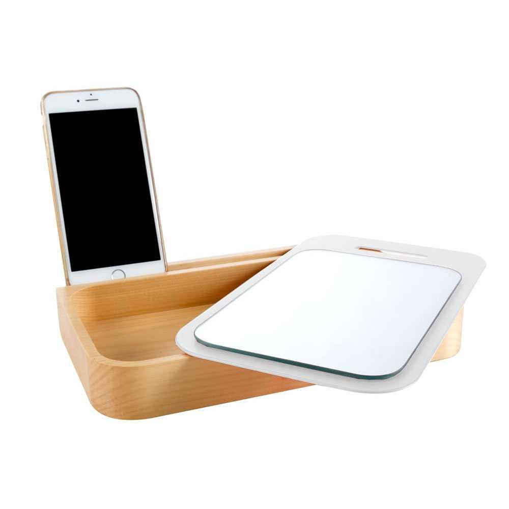 Porta cosmetici/gioie in legno 'Try Pad' by Cipi cm 26.5x17x3.5