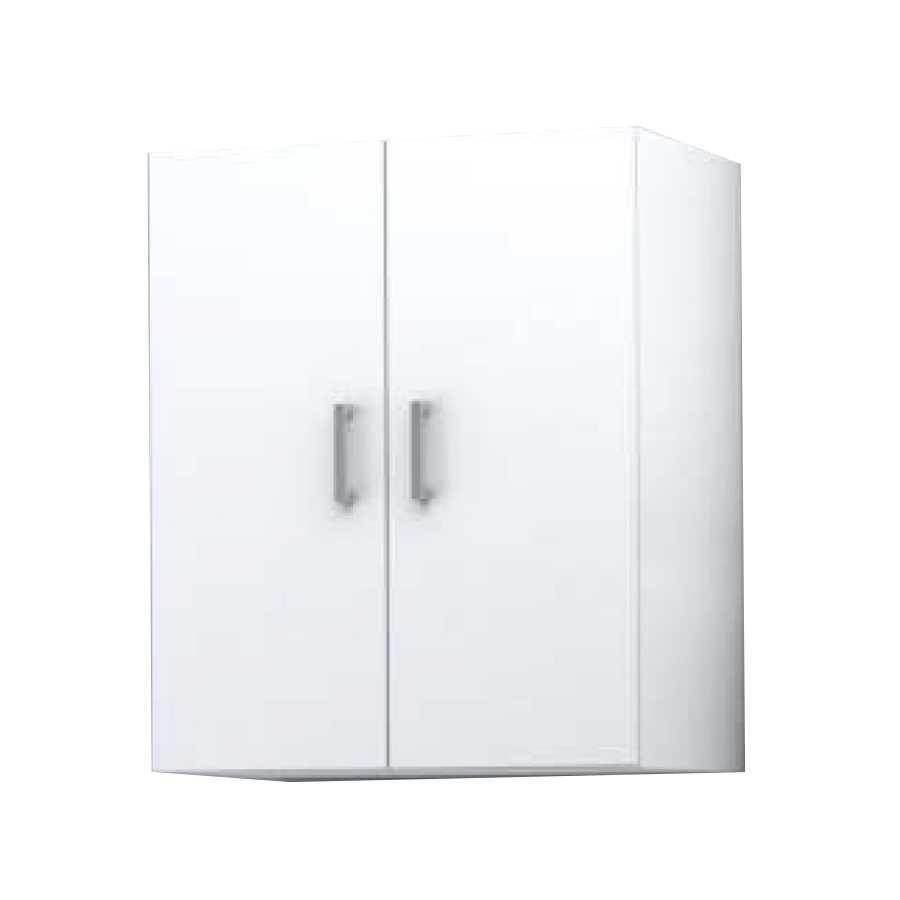Pensile sospeso a 2 ante modello Palma da cm 60x70x25 cm finitura bianco lucido