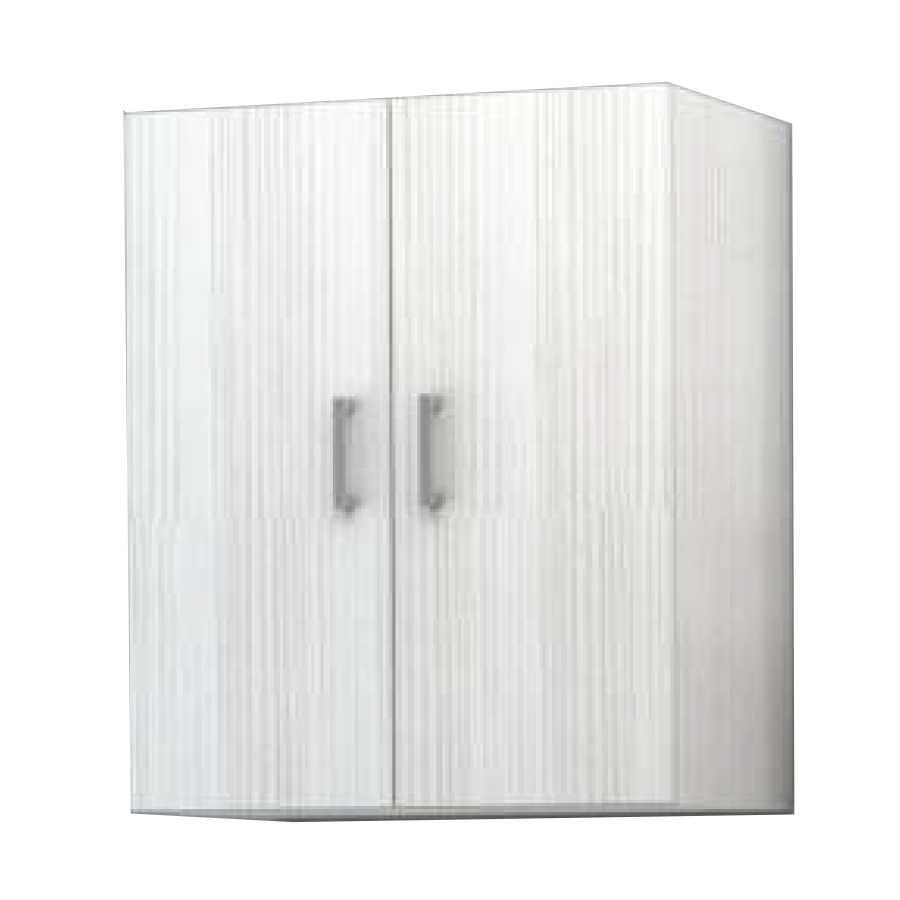 Pensile sospeso a 2 ante modello Palma da cm 60x70x25 cm finitura bianco matrix