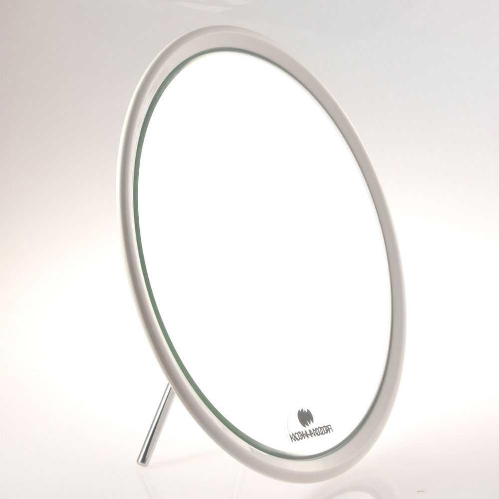 Specchio ingranditore monofacciale da tavolo linea 'Toeletta' cm ø 23 - Ingrandimento X6 - Bianco