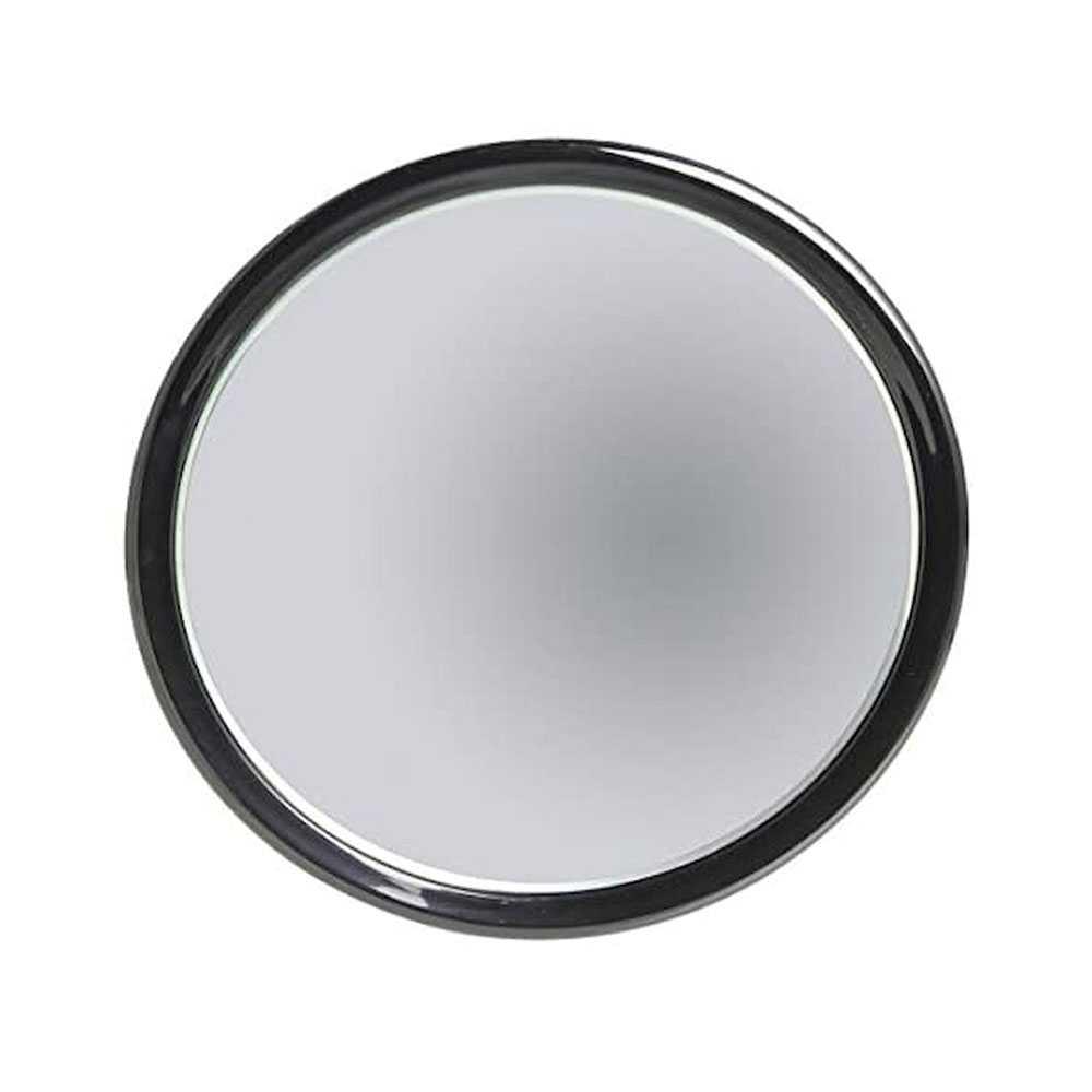Specchio ingranditore monofacciale con 3 ventose linea 'Toeletta' cm ø 23 - Ingrandimento X6 - Nero