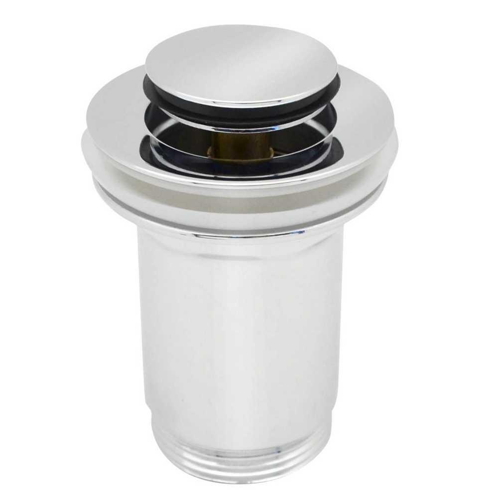 Piletta click-clack con troppo pieno per lavabo e bidet da 13 a 46 mm