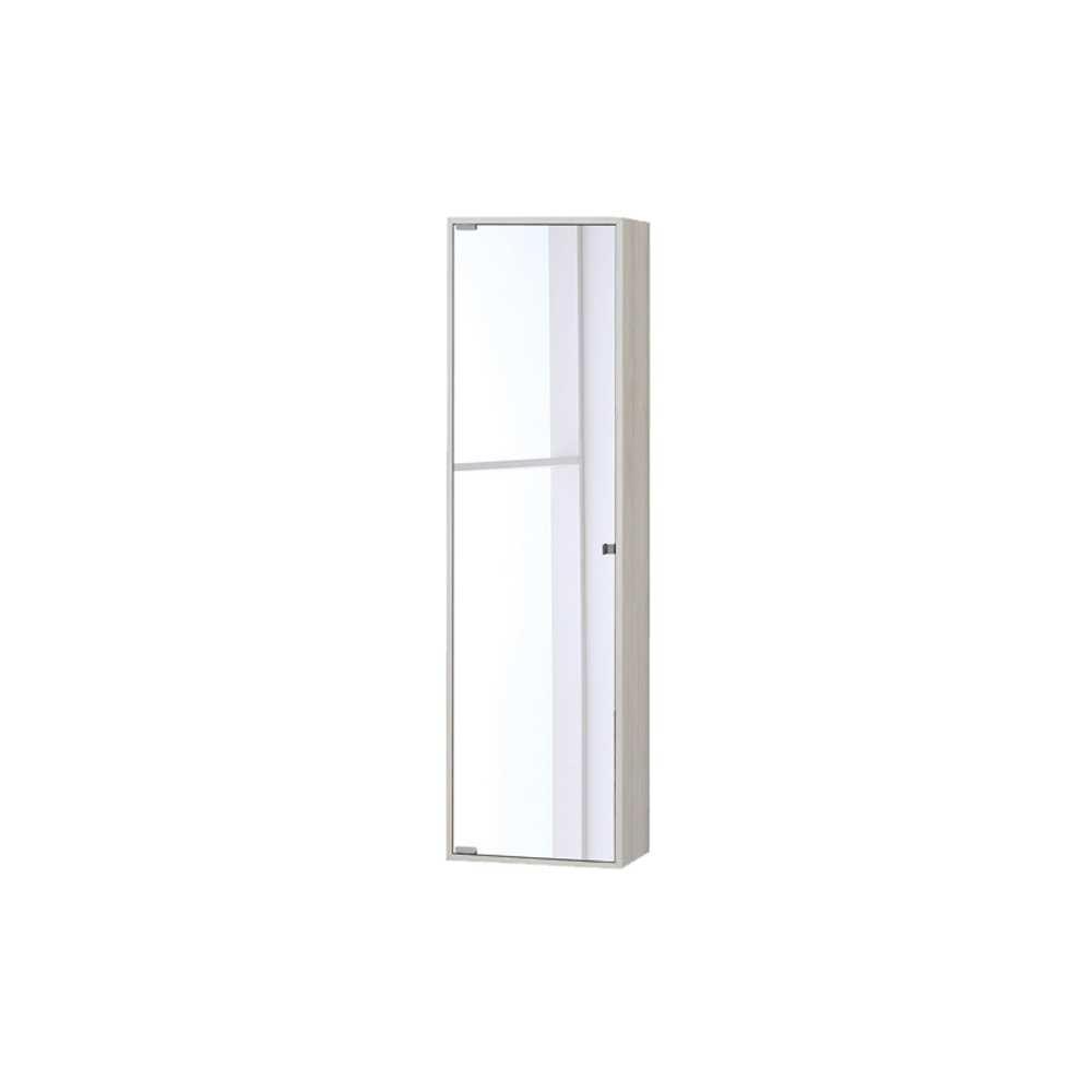 Pensile con anta a specchio in nobilitato Upside cm 120h Colore Pino Bianco