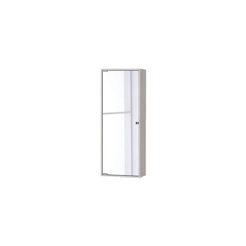 Pensile con anta a specchio in nobilitato Upside cm 90h Colore Pino Bianco