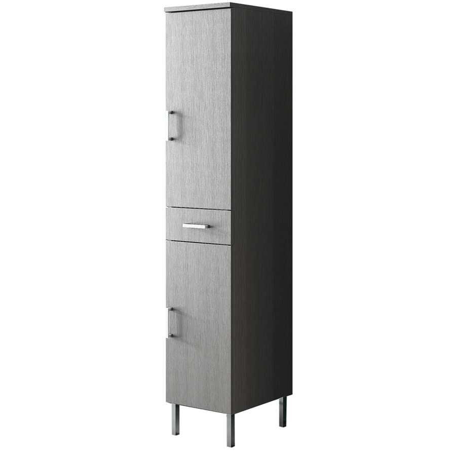 Mobile colonna a terra con due ante e cassetto centrale modello Venice altezza cm 180 finitura larice grigio