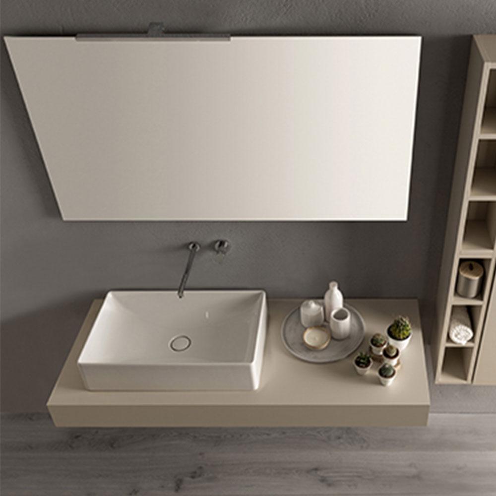 Raffinato lavabo da appoggio di Globo in ceramica bianca ...