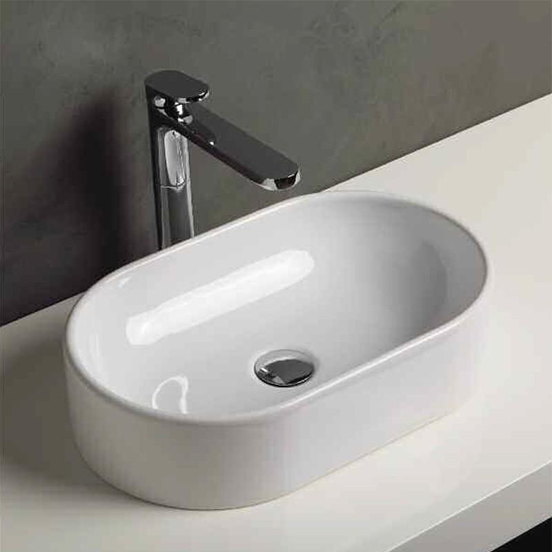 Lavabo da Appoggio modello OVAL Ceramica Azzurra