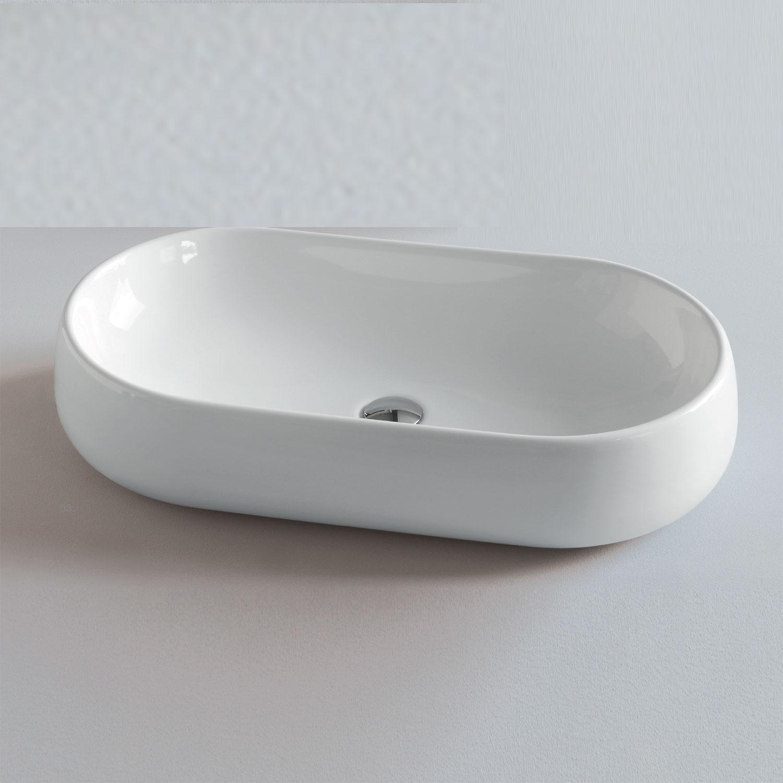 Lavabo da Appoggio modello Nuvola 60 Ceramica Azzurra