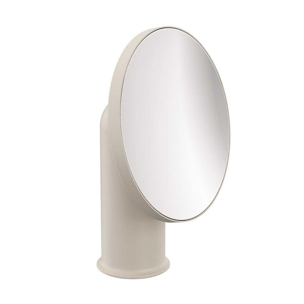 Specchio ingranditore da appoggio in acciaio della collezione 'Geyser' by Cosmic - Pietra satinato