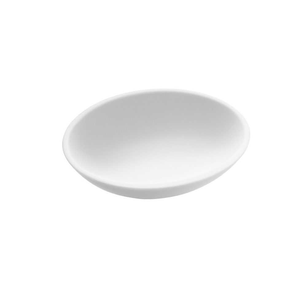 Portasapone da appoggio in vetro acrilico della collezione 'Saku' by Cosmic - Bianco soft
