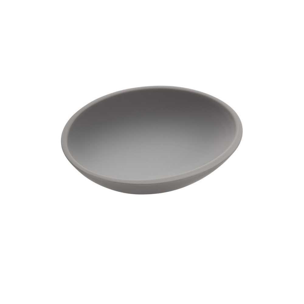 Portasapone da appoggio in vetro acrilico della collezione 'Saku' by Cosmic - Grigio soft
