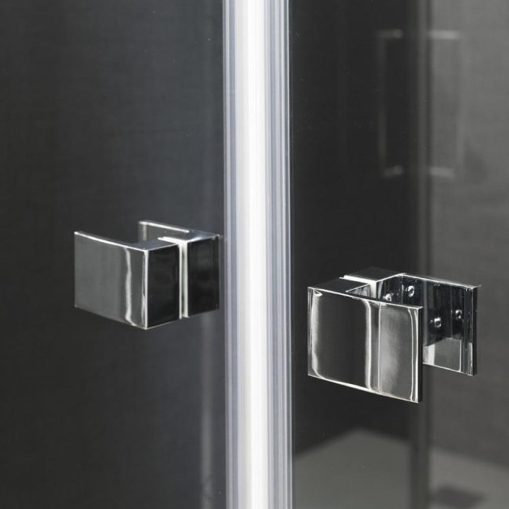 Porta doccia Kronos apertura saloon da 70 cm cristallo trasparente 6 mm temperato