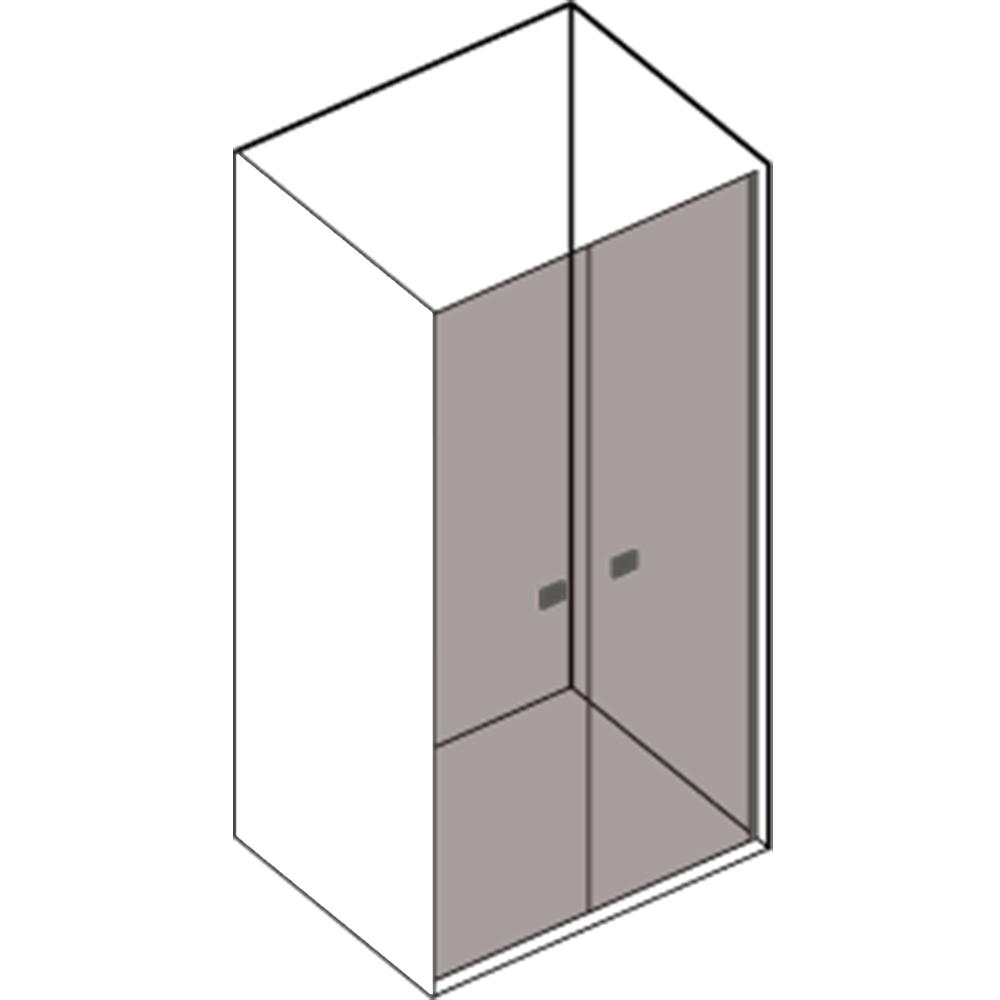 Porta doccia Kronos apertura saloon da 90 cm cristallo trasparente 6 mm temperato